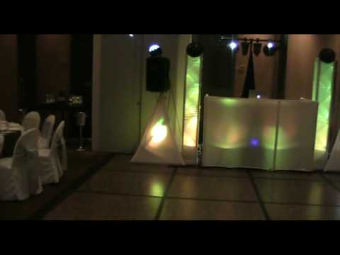 gig log white set up skrim king glow pro dj booth Video