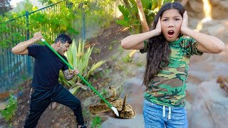 TXUNAMY FOUND THE RATTLE SNAKE!! **She's Terrified** | Familia Diamond