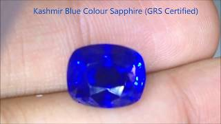 Natural Kashmir Blue Sapphire - 10 Carats - by Gandhi Enterprises