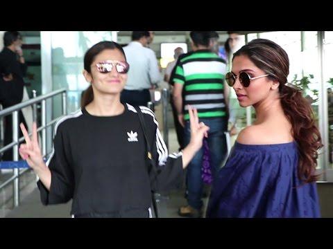 Airport Spotting 20th July 2016 | Deepika Padukone, Alia Bhatt, Sonali Bendre
