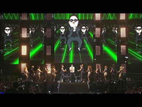 PSY - GANGNAM STYLE - Гангнам стайл на живо от Сеул
