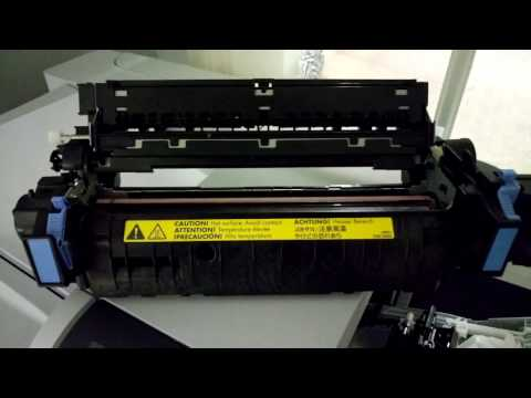 HP Printer fuser error - cleaning the fuser - howto