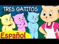 TRES GATITOS  Canciones infantiles en Espanol  ChuChu TV -