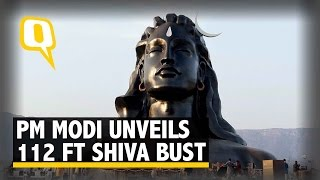 The Quint: PM Modi Unveils Shiva Bust In Coimbatore, Protesters Cry 'Illegal'