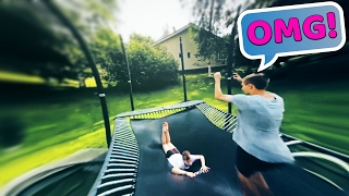 INSANE TRAMPOLINE TRICKS 58 (Worlds First, Crazy, Trampolining, Quad)