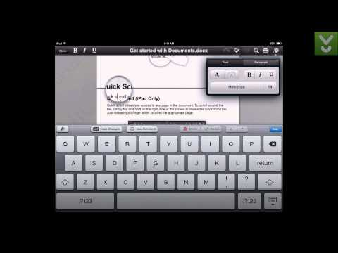 QuickOffice - Work with Word docs, Excel spreadsheets, and PDFs on iOS - Download Video Previews