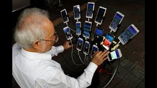 Taiwan grandpa catches 'em all playing Pokemon Go on 15 phones