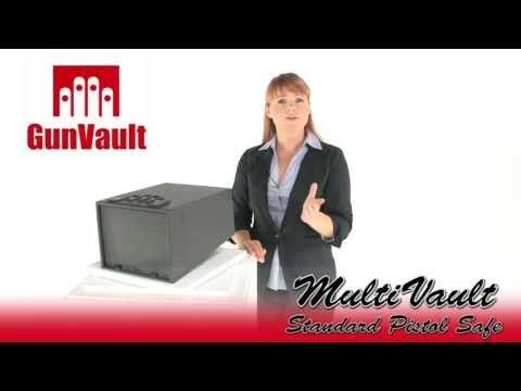 GunVault GV2000C-STD MultiVault Standard Digital Pistol Safe