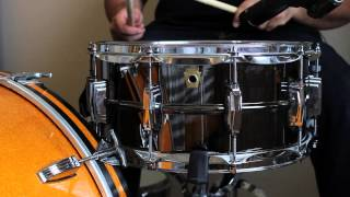 Ludwig Black Beauty, Pearl Senistone Elite and Risen Drums Brass Snare Comparison