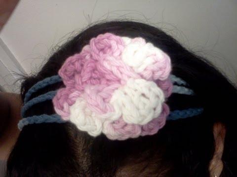 Cintillo de 3 lineas (para personas zurdas) - Tutorial de tejido crochet