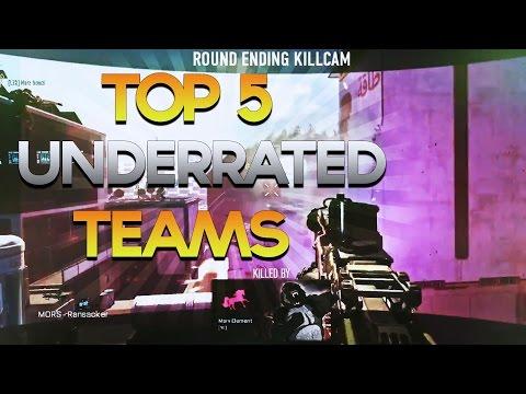 Red Scarce: Top 5 Underrated Teams Week #35 COMEBACK Advanced Warfare Trickshot Sniper Montage
