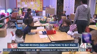 Teacher receives enough donations to buy iPads
