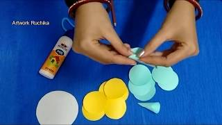 A Simple Way to do Paper Flower | Craft work
