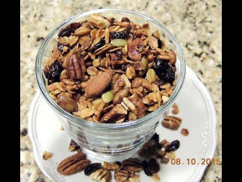 ГРАНОЛА- МЮСЛИ  домашнего приготовления - вкусный и полезный завтрак для школьника.