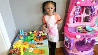 Pretend Cooking Play Food Toys with Toy Kitchen Playset Imani's Fun World