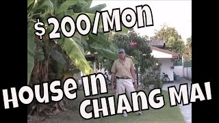 Living on a Retirement Budget - 200 Dollar House for Rent in Chiang Mai, Thailand