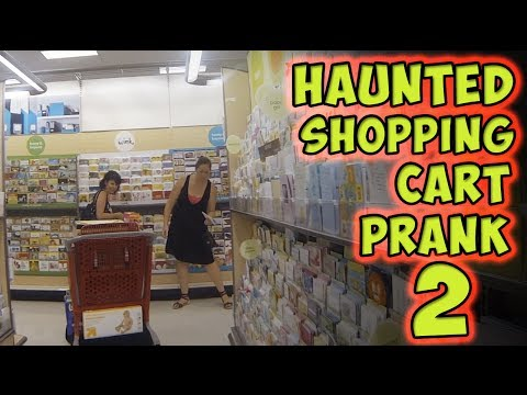 Haunted Shopping Cart Prank 2
