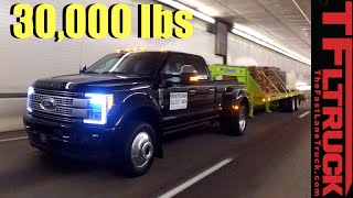 2017 Ford Super Duty F-450 vs. Super Ike Gauntlet Review: Midnight Edition