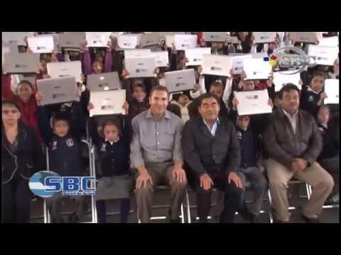 Entrega Rafael Moreno Valle Computadoras en Tehuacan 28 11 14