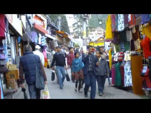 Walking back from the Bazaar to Mall Road Shimla