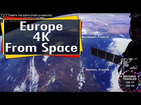 NASA : Earth from space - Europe 4k video from the International Space Station ISS