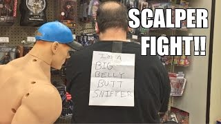 PRANKING FAT SCALPER GUY at ToysRus!! WWE Wrestling Figure Toy Hunt