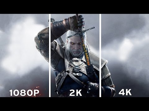 The Witcher 3: Wild Hunt - 1080p vs 2K vs 4K Graphics Comparison 4K
