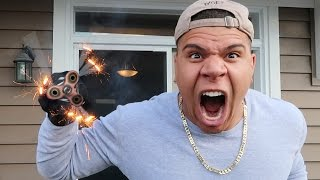 1000 MPH FIDGET SPINNER VS FIREWORKS!!