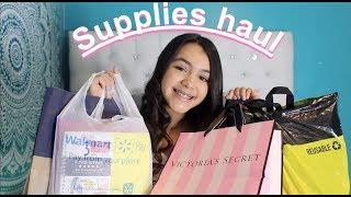 back to school supplies haul 2018 !!