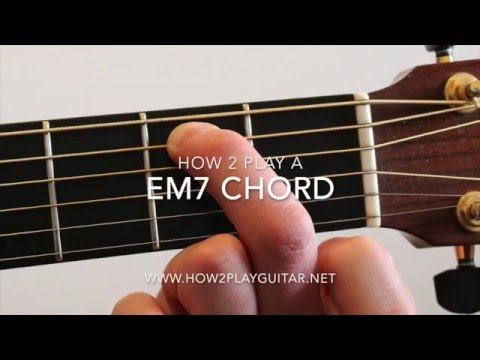 How to play a Em7 chord on guitar