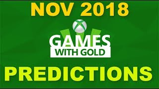 XBOX Games with Gold November 2018 Predictions #gwg #gameswithgold #xbox