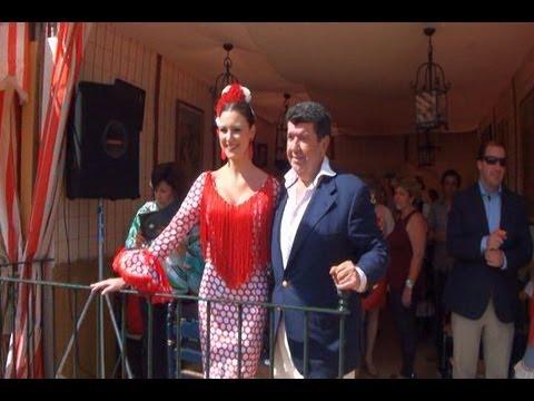 Maria Jesús Ruiz y José M.Gil en la Feria de Abril