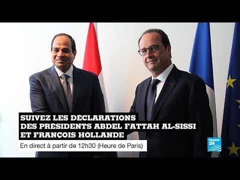 REPLAY - Revoir les déclarations des présidents François Hollande et Abdel Fattah al-Sissi
