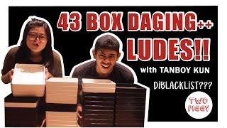 OMG! BATTLE MUKBANG with Tanboy Kun di SHABURI 43 Box Daging Ludess| TWO PIGGY