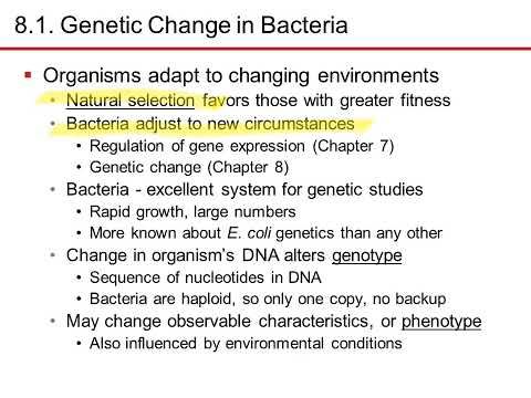Nester7 Ch8 History to Genetic Change in Bacteria