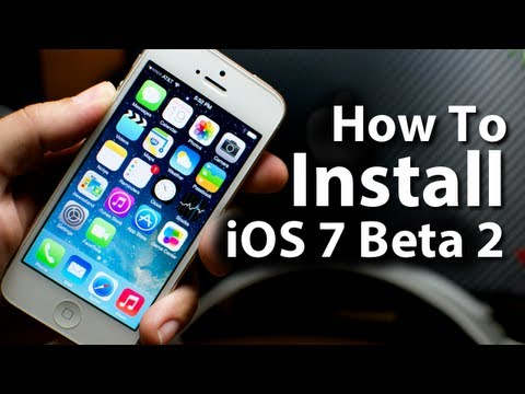 How To Install iOS 7 Beta 2 On iPhone5/4S/4 - iPod Touch 5G - iPad 2/3/4/Mini
