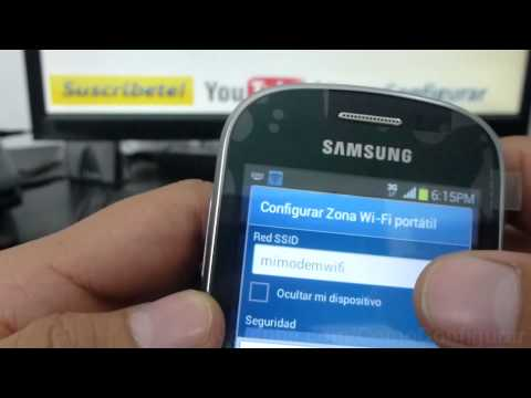 como configurar como modem el samsung galaxy Fame S6810 español Full HD