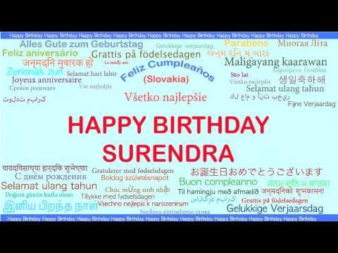Surendra   Languages Idiomas - Happy Birthday
