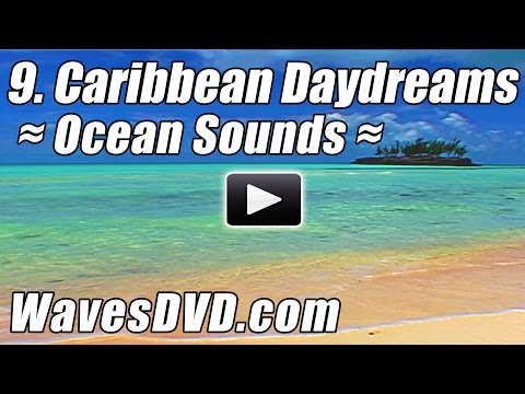 9 - CARIBBEAN DAYDREAMS six 10 min loopable scenes - WAVES  DVD Nature Video relaxing ocean sounds