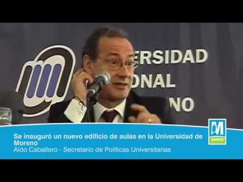 Se inauguró un nuevo edificio de aulas en la Universidad de Moreno