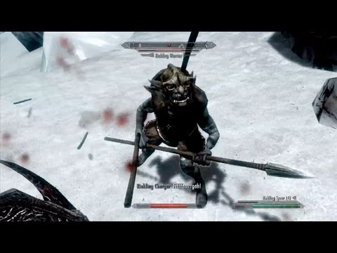 Riekling Spears - Skyrim: Dragonborn DLC Gameplay