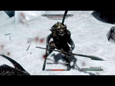 Riekling Spears - Skyrim: Dragonborn DLC Gameplay