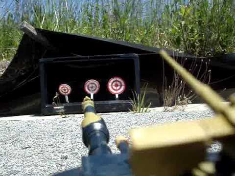 Airsoft RC M1A1 Abrams Tank Target Shooting (Daytime)