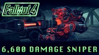 Fallout 4 | Best Sniper Rifle! (6600 Damage - Can Instantly Kill Anything) Legendary Sniper