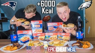 SUPER BOWL KALORIEN CHALLENGE | EPIC AMERICAN CHEAT MEAL