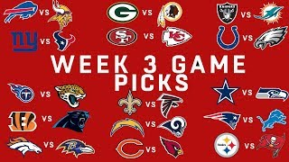 Week 3 NFL Game Picks | NFL