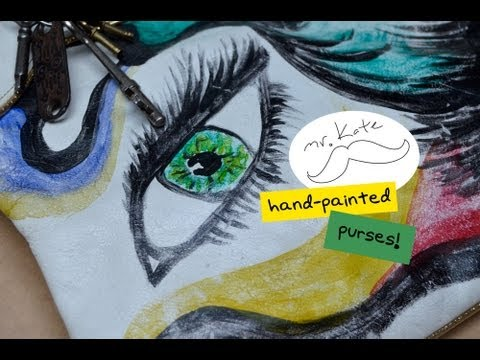 Mr. Kate DIY Painted Purse Tutorial