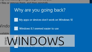 Uninstall Windows 10 and Downgrade to Windows 8.1