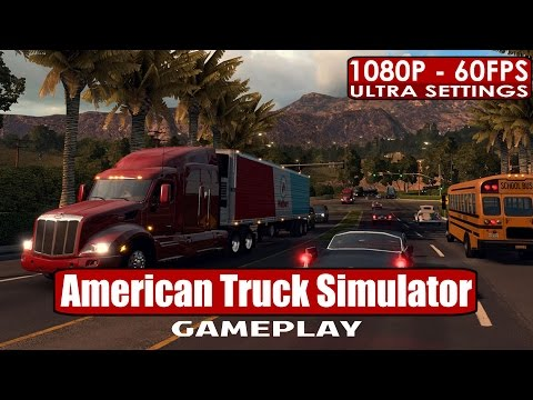 American Truck Simulator Gameplay PC HD [1080p/60fps]