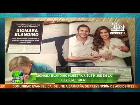 Xiomara Blandino muestra a sus hijos en la revista Hola